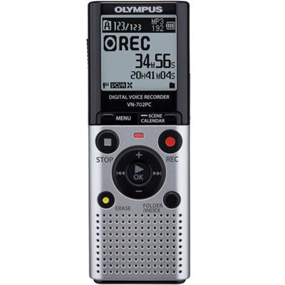 Olympus VN-702PC Digital Audio Recorder (Silver) - Refurbished (VN-702 PC SILVER-REF)
