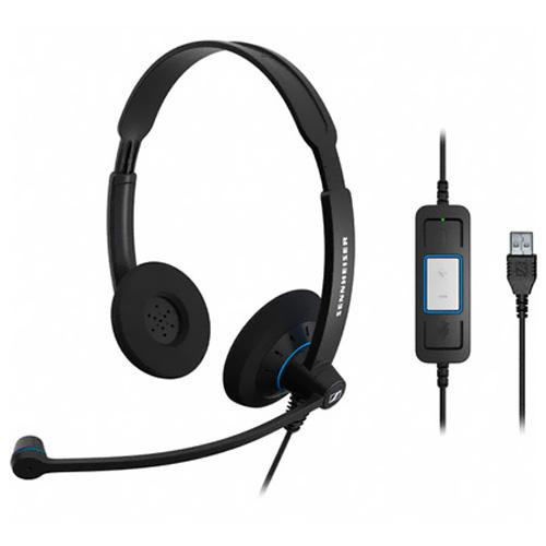 Sennheiser Electronic SC 60 USB CTRL Dual-sided Headset - Optimized for Microsoft Lync