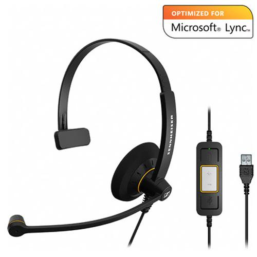 Sennheiser Electronic SC 30 USB ML Single-sided Wideband Headset - Optimized for Microsoft Lync