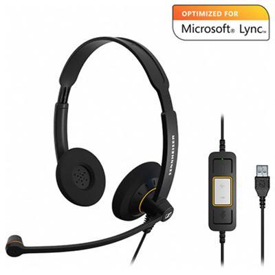 Sennheiser ElectronicSC 60 USB ML Dual-sided Headset - Optimized for Microsoft Lync(SC60USBML)