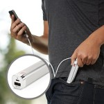 PowerPack 2600 mAh for iPhone & Smartphones - 1 Amp - Brushed Aluminum - Provides 1 Extra Charge