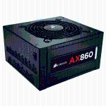 AX860 - Power supply (internal) - ATX12V 2.31/ EPS12V 2.92 - 80 PLUS Platinum - AC 100-240 V - 860 Watt - active PFC - North America