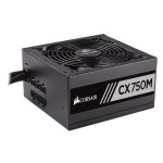 Corsair Memory CX750M - Power supply ( internal ) - ATX12V 2.3/ EPS12V 2.91 - 80 PLUS Bronze - AC 100-240 V - 750 Watt - active PFC - North America - matte black CP-9020061-NA