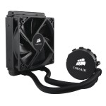 Corsair Memory Hydro Series H55 Quiet CPU Cooler - Liquid cooling system - ( LGA1156 Socket, Socket AM2, LGA1366 Socket, Socket AM3, LGA1155 Socket, LGA2011 Socket, Socket FM1 ) - aluminum with copper base - 120 mm CW-9060010-WW