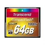 Transcend Ultimate - Flash memory card - 64 GB - 1000x - CompactFlash TS64GCF1000