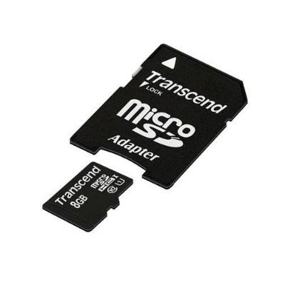 TranscendmicroSDHC Class 10 UHS-I (Premium) - flash memory card - 8 GB - microSDHC UHS-I(TS8GUSDU1)