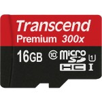 Transcend Flash memory card ( microSDHC to SD adapter included ) - 16 GB - UHS Class 1 / Class10 - microSDHC TS16GUSDU1