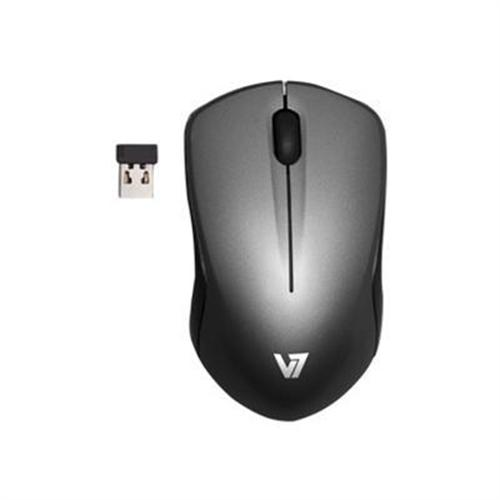 V7 Wireless Mobile Blue Trace Mouse - Black with Dark Gray Acsent