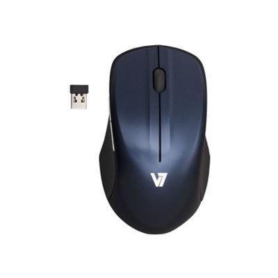 V7 Wireless Full Size Blue Trace Mouse - Black with Blue (MV5000202-8NB)