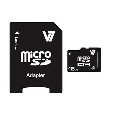 V716GB Micro SDHC Class 10 Flash Memory Card With Adapter(VAMSDH16GCL10R-2N)