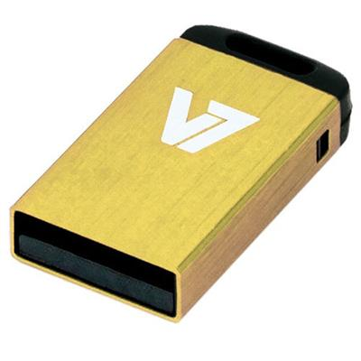 V7 4GB Nano USB Flash Drive - Yellow (VU24GCR-YLW-2N)
