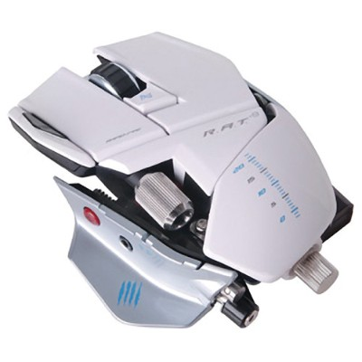 Mad Catz R.A.T. 9 Wireless Gaming Mouse for PC and Mac - White (MCB437090001/02/1)