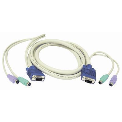 Cables To Go6 ft. 3-in-1 Universal Hi-resolution PS/2 KVM Cable(23473 )