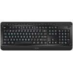 Large Print Tri-Color Illuminated USB Keyboard - Keyboard - backlit - USB