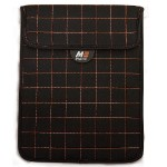 "NeoGrid Sleeve for iPad and 10"" Tablets  - Black with Orange Stitching"