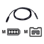 QVS IEEE 1394 cable - 9 pin FireWire 800 (M) to 6 pin FireWire (M) - 6 ft ( IEEE 1394b ) - black CC1394F6-06