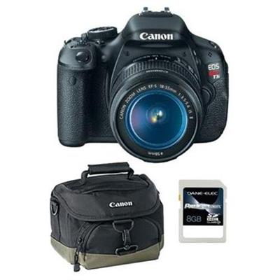Canon 5169B003-3-KIT Eos Rebel T3i W/ 18-55mm With Gadget Bag [6277a001] & 8gb Sd Card (5169B003-3-KIT)