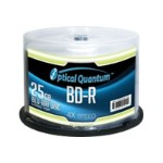 Optical Quantum Logo Top - 50 x BD-R - 25 GB 4x - spindle