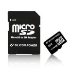 Silicon Power 32GB MICROSDHC CLASS 6 WITH SD ADAPTER SP032GBSTH006V10-SP