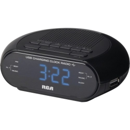 Audiovox RCA RC207 USB CHARGING CLOCK RADIO WITH