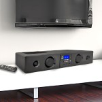 PRO PSBV200BT - Sound bar - wireless - 150 Watt - piano black