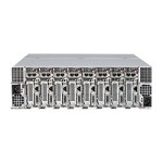 Supermicro SuperServer 5037MC-H86RF - 8 nodes - cluster - rack-mountable - 3U - 1-way - RAM 0 MB - no HDD - G200eW - GigE - monitor: none