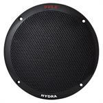 Dual 6.5'' Waterproof Marine Speakers, 2-Way Full Range Stereo Sound, 400 Watt - Black, Pair