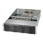 Supermicro SC836 BE16-R1K28B - Rack-mountable - 3U - enhanced extended ATX - SAS - hot-swap 1280 Watt - black - USB/serial