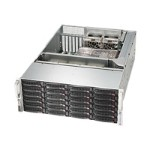 Supermicro SC846 BE16-R1K28B - Rack-mountable - 4U - enhanced extended ATX - SAS - hot-swap 1280 Watt - black