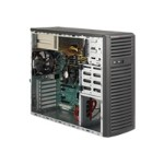 Supermicro SC732 i-R500B - Mid tower - extended ATX 500 Watt ( PS/2 ) - black - USB