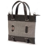 "11"" Herringbone Tablet Tote - Black/White"