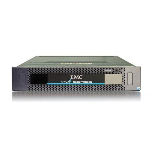 "EMC VNXe 3150 3U Dual Processor 25 x 2.5"" Bay 6 x 300GB 10K SAS HD 2 x 1Gb IP SAN/NAS, Thin Provisioning, Deduplication, Snapshots, Wizard driven provisioning for Vmware, Exchange, Active Directory support, Unisphere OS"