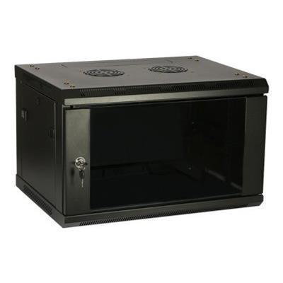 4XEMRack (wall mount) - black - 6U - 19