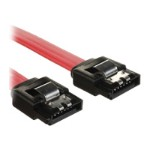 4XEM SATA cable - Serial ATA 150/300/600 - 7 pin SATA (F) to 7 pin SATA (F) - 8 in - plenum, right angle connector, latched - red 4XSATAL8RD