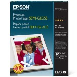 "Epson 8.5"" x 11"" Premium Photo Paper, Semi-gloss - 20 Sheets S041331"