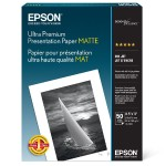 Ultra Premium Presentation Paper Matte - Matte - 10.3 mil - Letter A Size (8.5 in x 11 in) - 192 g/m² - 50 sheet(s) paper - for EcoTank ET-3600; Expression ET-3600; Expression Home XP-434; WorkForce ET-16500, WF-2750
