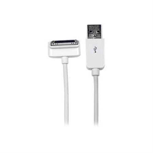 StarTech 1m (3 ft) Down Angle Apple 30-pin Dock Connector to USB Cable for iPhone / iPod / iPad with Stepped Connector