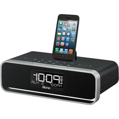 iHome Dual Charging Stereo Clock Radio With Lightning Dock for iPhone, iPad & iPod (iDL91BC)