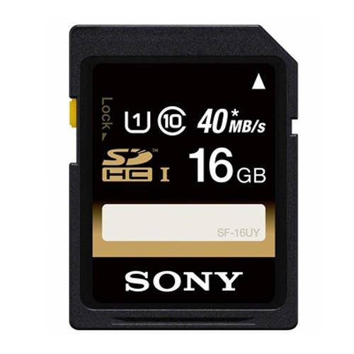 Sony 16GB High Speed Class 10 SDHC UHS-1 R40 Memory Card - Up To 40MB/s