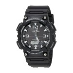 Analog Digital Solar Watch - Black