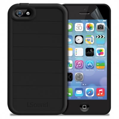 dreamGEAR DuraGuard for iPhone 5s + Screen Protector - Black (ISOUND-5337)
