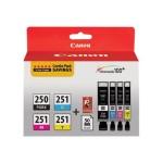 PGI-250/CLI-251 4 Color Combo Pack - 4-pack - black, yellow, cyan, magenta - original - ink tank - for PIXMA iP8720, IX6820, MG5520, MG5522, MG5620, MG5622, MG6420, MG6620, MG7120, MG7520