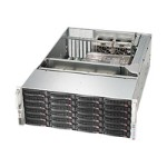 Supermicro SC846 BA-R1K28B - Rack-mountable - 4U - extended ATX - SATA/SAS - hot-swap 1280 Watt - black