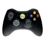 Microsoft Xbox 360 Wireless Controller - Game pad - wireless - 2.4 GHz - matte black - for  Xbox 360 NSF-00023