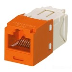 Panduit MINI-COM TX6 Plus - Modular insert - orange - 1 port CJ688TGOR