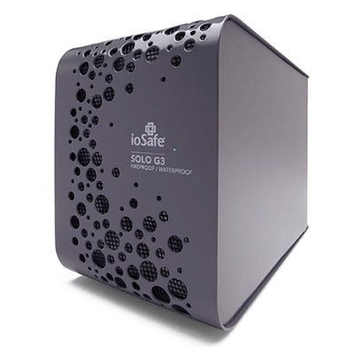 ioSafe2TB Solo G3 for Macintosh Fireproof Waterproof Desktop External Hard Drive - USB 3.0(SK2TB-MAC)