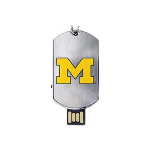 US Digital Media Flashscot Flash Tag USB University of Michigan - USB flash drive - 8 GB