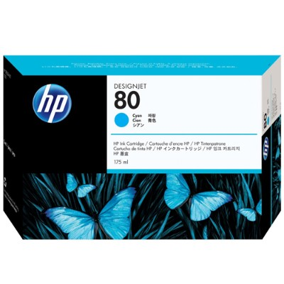 HP 80 175-ml Cyan Ink Cartridge (C4872A )