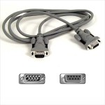 Belkin serial extension cable - 15 ft f2n209b15-t