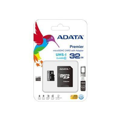 A-DATA TechnologyPremier UHS-I - flash memory card - 32 GB - microSDHC UHS-I(AUSDH32GUICL10-RA1)